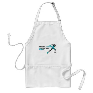 The BODY Achieves what the MIND Believes Cyan Standard Apron