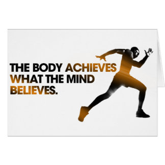 The BODY Achieves what the MIND Believes Gold Card