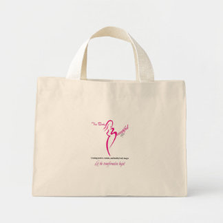 The Body Beautiful by Allegra White Logo Tote Mini Tote Bag
