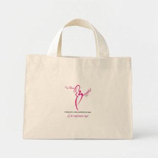 The Body Beautiful by Allegra White Logo Tote Mini Tote Bag