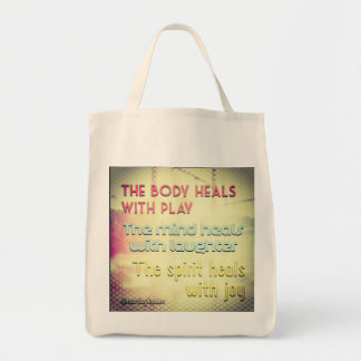 The body heals tote bag