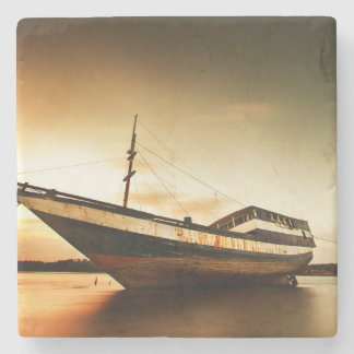 The Body Of Old Ship | Bali, Indonesia Stone Coaster
