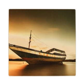 The Body Of Old Ship | Bali, Indonesia Wood Coaster