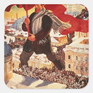 The Bolshevik, 1920 Square Sticker