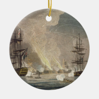 The Bombardment of Algiers by the Royal Navy, 1816 Christmas Ornament