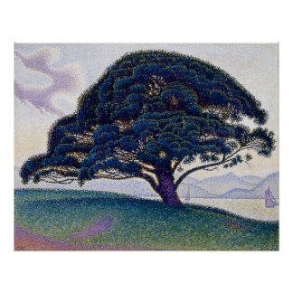 The Bonaventure Pine by Paul Signac Poster