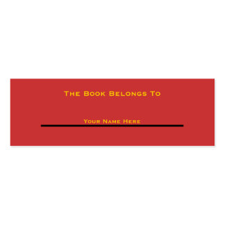 The Book Belongs To (New and Improved)  Style3 Pack Of Skinny Business Cards