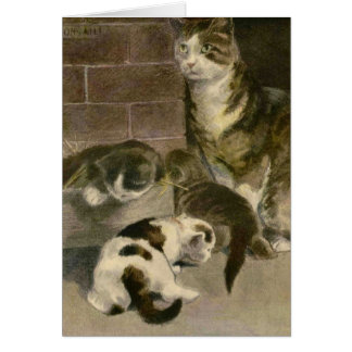 The Book of the Cat: Kittens will be Kittens Greeting Card