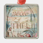 The Book of Thel; Title Page, 1789 Christmas Ornament