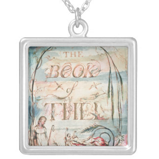 The Book of Thel; Title Page, 1789 Silver Plated Necklace
