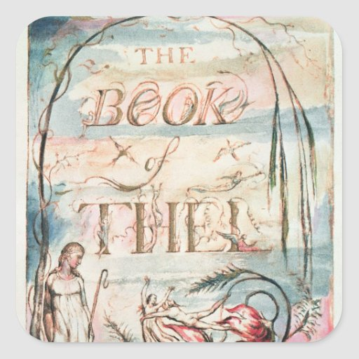 The Book of Thel; Title Page, 1789 Square Stickers