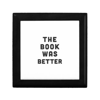 The book was better small square gift box