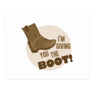 The Boot Postcard