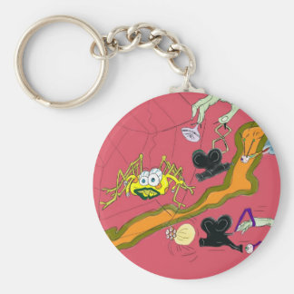The bored film maker basic round button key ring