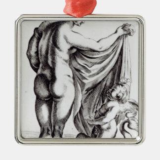 The Borghese Venus, c.1653 Silver-Colored Square Decoration