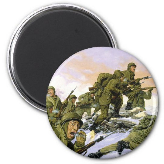 The Borinqueneers by Dominic D'Andrea 6 Cm Round Magnet