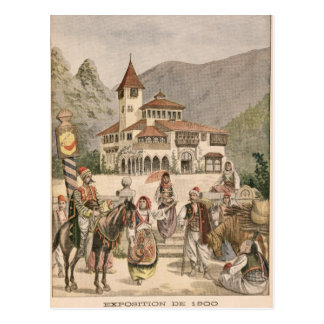 The Bosnian Pavilion at the Universal Exhibition Postcard