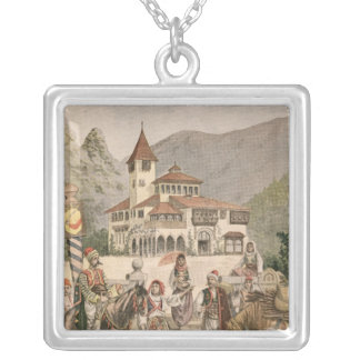 The Bosnian Pavilion at the Universal Exhibition Silver Plated Necklace