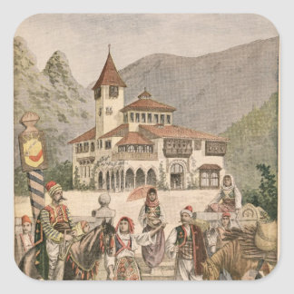 The Bosnian Pavilion at the Universal Exhibition Square Sticker
