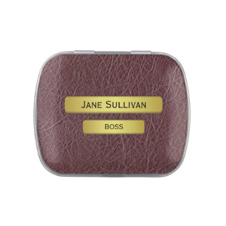 The Boss - A Brass Name Plate Effect Candy Tin