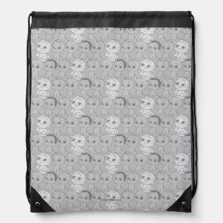 The Boss Baby | Grey Pattern Drawstring Bag