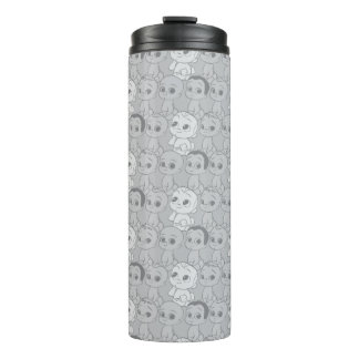 The Boss Baby   Grey Pattern Thermal Tumbler