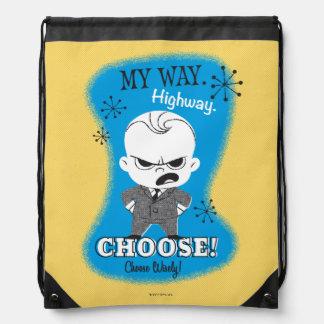 The Boss Baby | My Way. Highway. Drawstring Bag