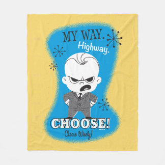 The Boss Baby | My Way. Highway. Fleece Blanket