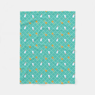 The Boss Baby | Teal Bottle & Rattle Pattern Fleece Blanket