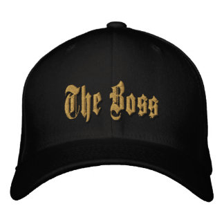The Boss gold embroidery daddy boss day cap. Embroidered Baseball Cap