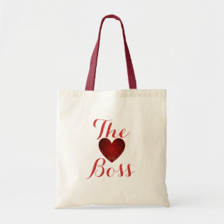 The Boss Heart Budget Tote Budget Tote Bag