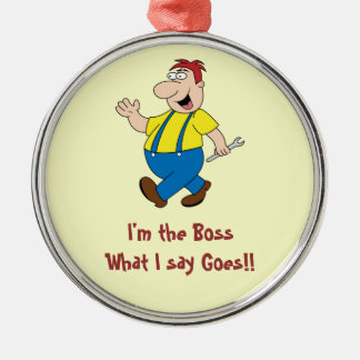 The Boss Premium Round Ornament Template