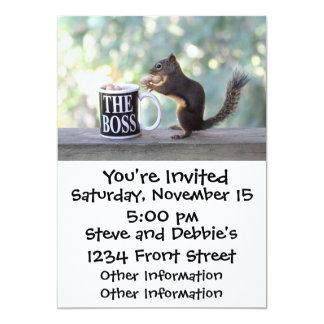 The Boss Squirrel 13 Cm X 18 Cm Invitation Card
