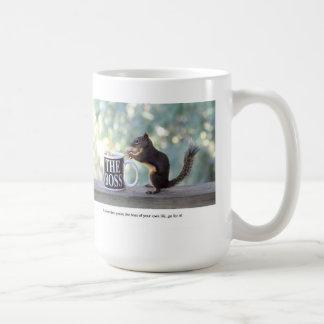 """The Boss"" Squirrel Basic White Mug"
