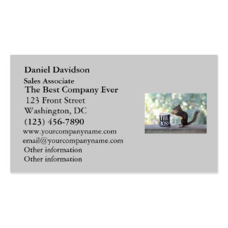 The Boss Squirrel Business Card Template