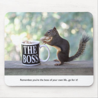 """The Boss"" Squirrel Mouse Mat"