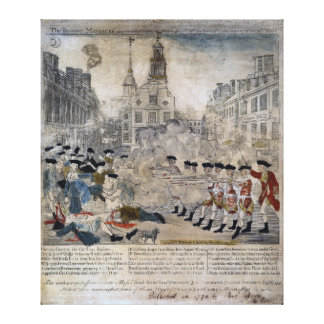 The Boston Massacre by Paul Revere 1770 Canvas Print