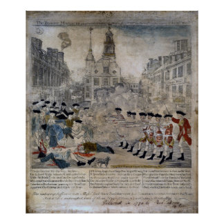 The Boston Massacre by Paul Revere 1770 Posters