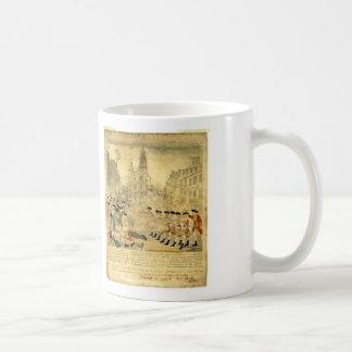 The Boston Massacre by Paul Revere Basic White Mug
