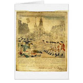 The Boston Massacre by Paul Revere Greeting Card