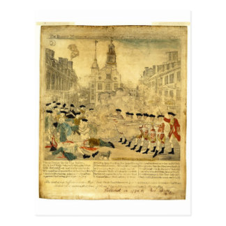 The Boston Massacre by Paul Revere Postcard