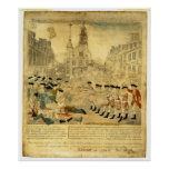The Boston Massacre by Paul Revere Poster