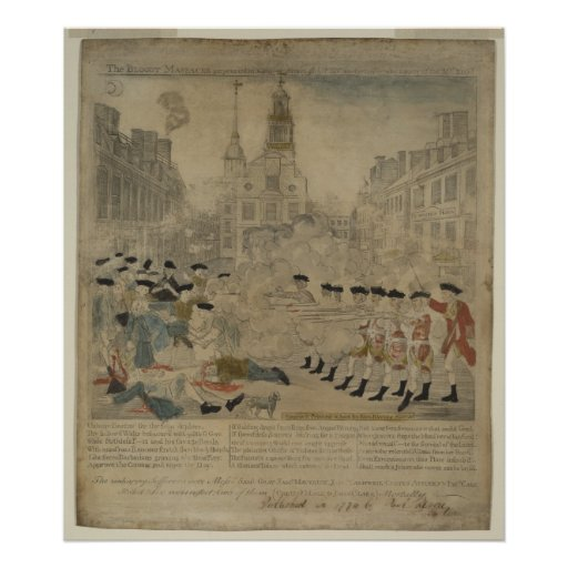 The Boston Massacre Poster