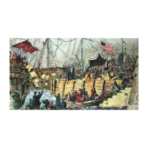 The Boston Tea Party, 16th December 1773 Canvas Print