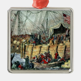 The Boston Tea Party, 16th December 1773 Christmas Ornament