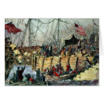 The Boston Tea Party, 16th December 1773 Greeting Card