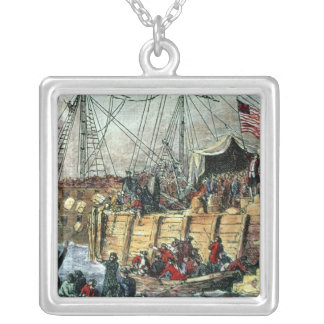The Boston Tea Party, 16th December 1773 Silver Plated Necklace