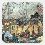 The Boston Tea Party, 16th December 1773 Square Sticker