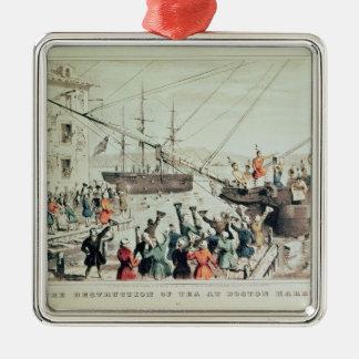 The Boston Tea Party, 1846 Christmas Ornament