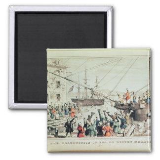 The Boston Tea Party, 1846 Magnet